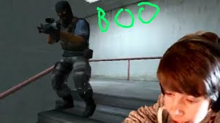 MANIAC IN THE STAIRWELL!- Counter-Strike: Source Funny Moments