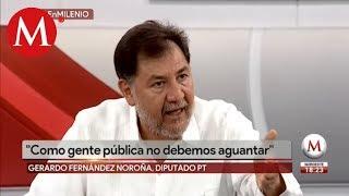"""Fernández Noroña acusa a Twitter por bloqueo de cuenta, """"son unos cretinos"""""""
