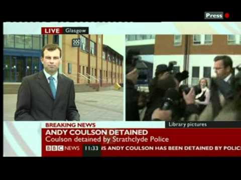 MURDOCH MAFIA GOON COULSON HELD OVER TOMMY SHERIDAN PERJURY INQUIRY