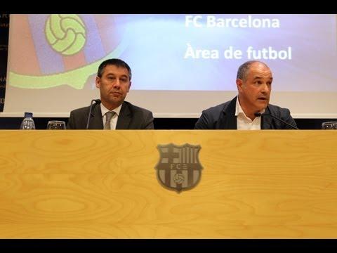 FC BARCELONA - Rueda de prensa de Josep Maria Bartomeu y Andoni Zubizarreta, íntegra