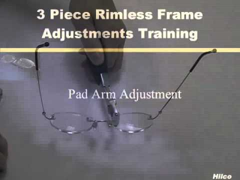 Hilco 3-Piece Rimless Eyewear Frame Adjustments