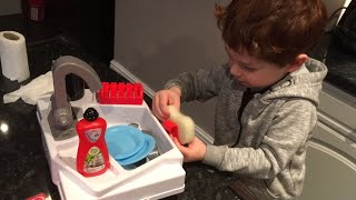 Toddler cleaning| Let's Pretend Washing Up Sink | Chad Valley | Toy Review | Role Play video