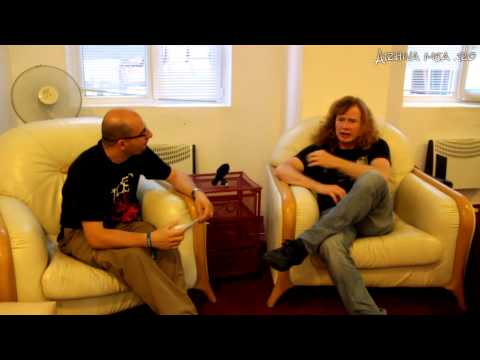 Dave Mustaine (Megadeth) - Video interview in Bucharest, Romania, 22.05.2013
