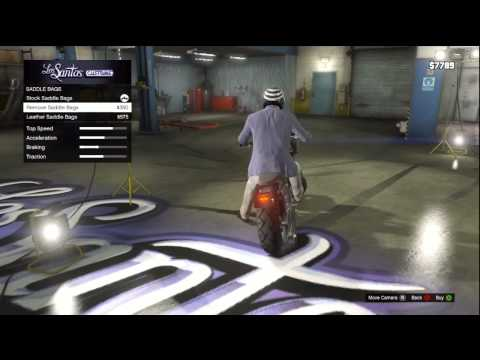 GTA V (GTA 5): Motorcycle Customization Gameplay (Xbox 360)