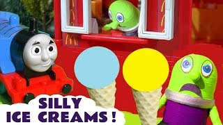 Funny Funlings McDonalds Drive Thru ice cream with Thomas Train and Cars McQueen