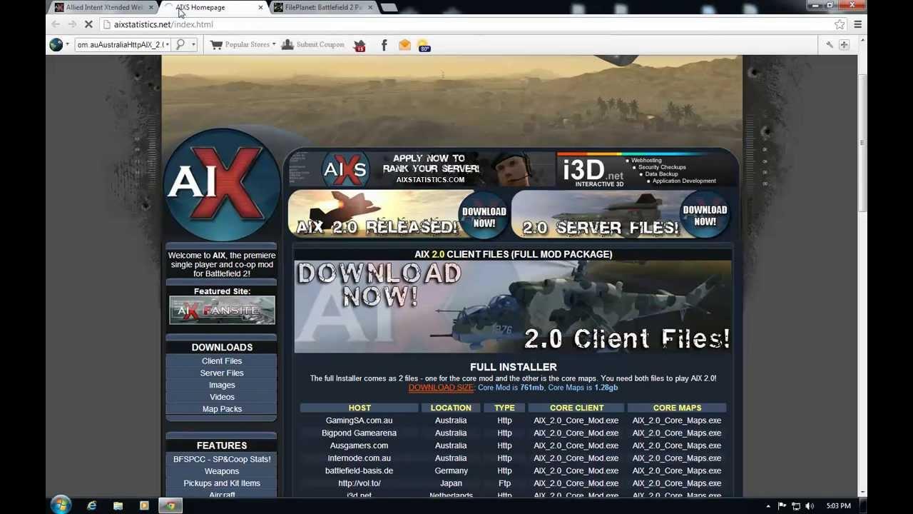 How To Install AIX Battlefield 2 MOD (Singleplayer/Online Rank MOD) .