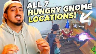 WHERE TO FIND ALL 7 HUNGRY GNOMES in Fortnite Battle Royale! (Week 8 Challenge)
