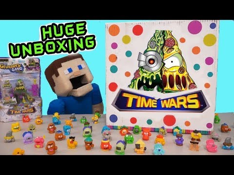 Grossery Gang TIME WARS UNBOXING Action Figures Movie Toys Future Putrid Robot Pizza Puppet Steve