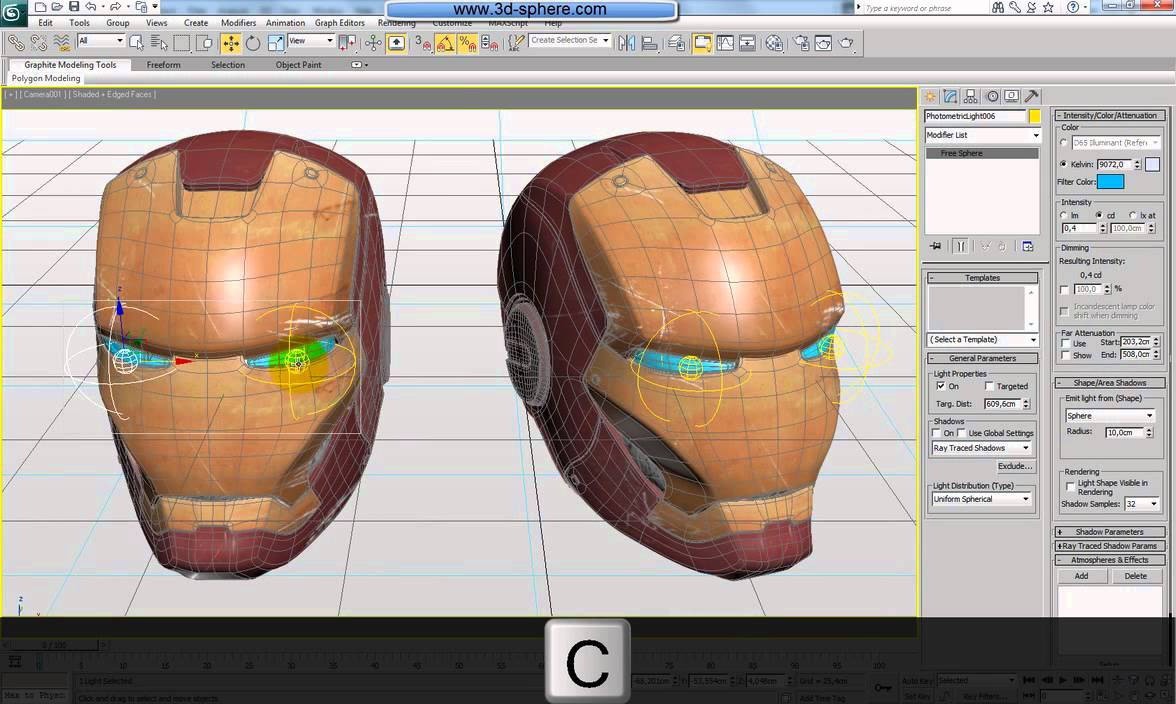 Helmet Tutorial 3ds Max Man Helmet Using 3ds Max
