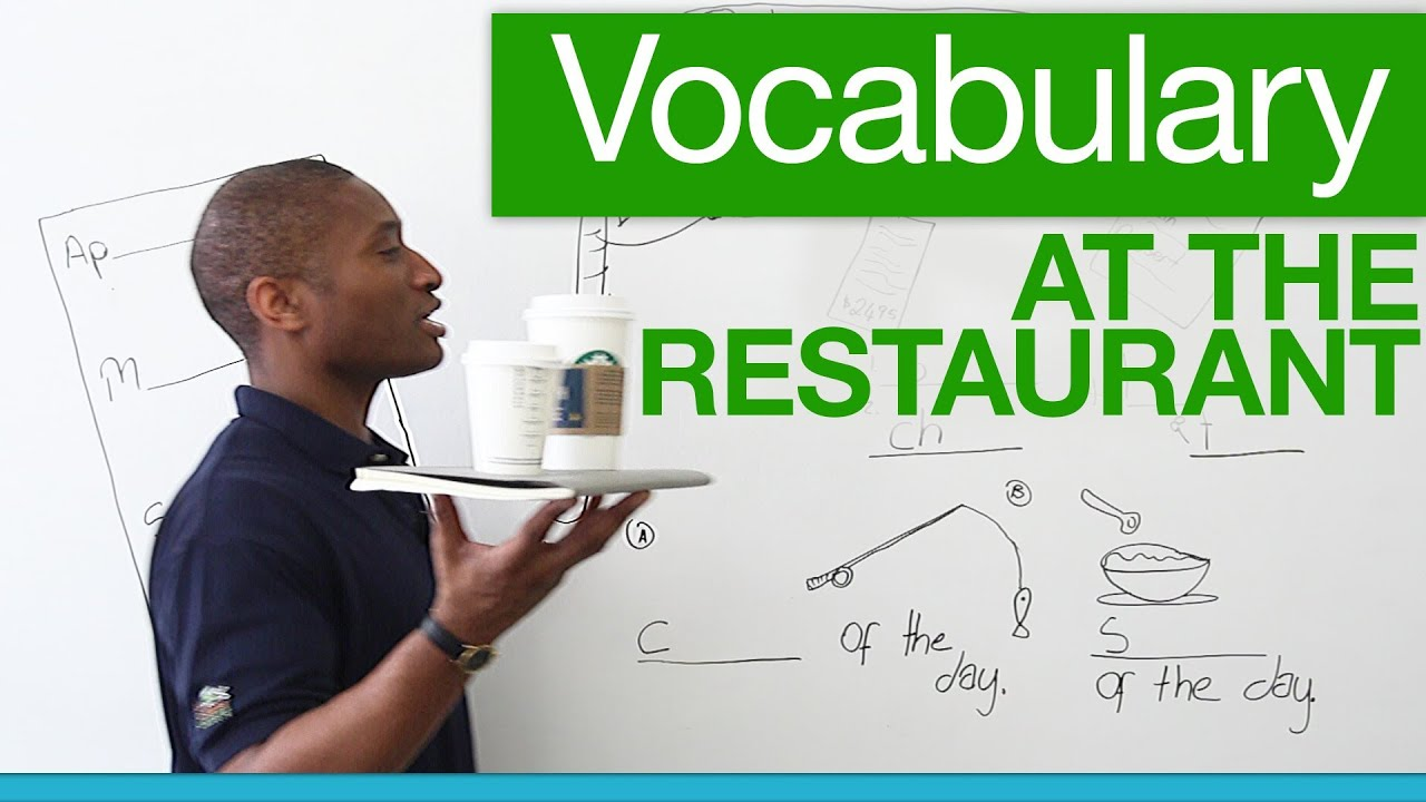 Basic english vocabulary for restaurants youtube for Cuisine vocabulary