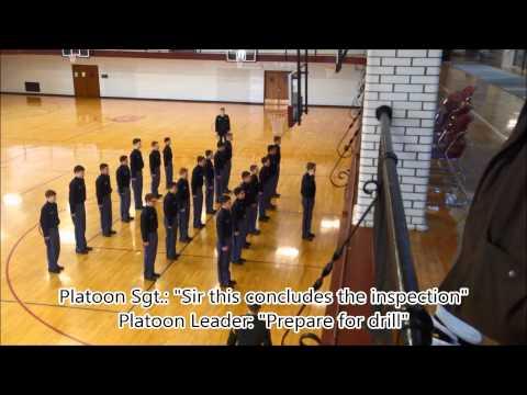 Culver Academies: Battery B Platoon Drill (C.A.R. 2013-2014) - 03/01/2014