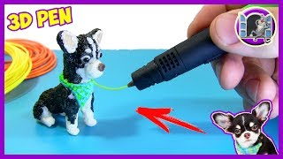 ЮМИ ЧУ ЩЕНОК МЭДЖИК ФЭМИЛИ РИСУЮ 3Д РУЧКОЙ | 3D PEN - MAGIC FAMILY