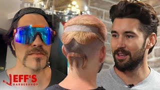 GIVING VLOG SQUAD HAIRCUTS THEY DIDN'T ASK FOR | Jeff's Barbershop