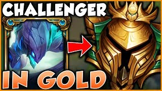 WHAT HAPPENS WHEN THE RANK 1 KHA'ZIX PLAYS IN GOLD ELO?! - League of Legends