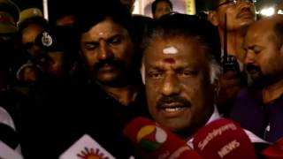 OPS speech - Sasikala Threatened Me