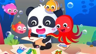 Baby Panda's Underwater Trip - Play And Explore Sea Animals - Baby Drawing Games