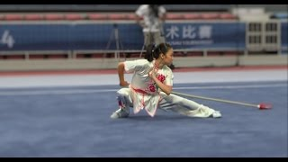 NANJING 2014 Wushu Tournament - Women Qiangshu - USA Emily Fan 范欣宇 9.42