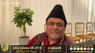 Jalsa Interviews 2019 : National Ameer Sb UK