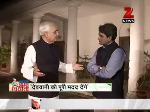 An exclusive interview with External Affairs Minister Salman Khurshid