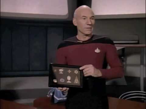 Captain Picard unveils the iPad