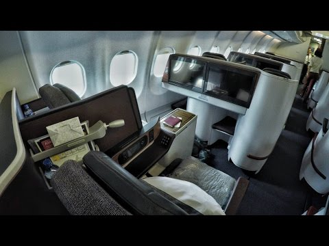 Qatar Airways Airbus A340 Business Class Colombo To Doha