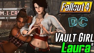 Fallout 4 - Vault Girl Laura British Beauty With Quest - Companion Mods