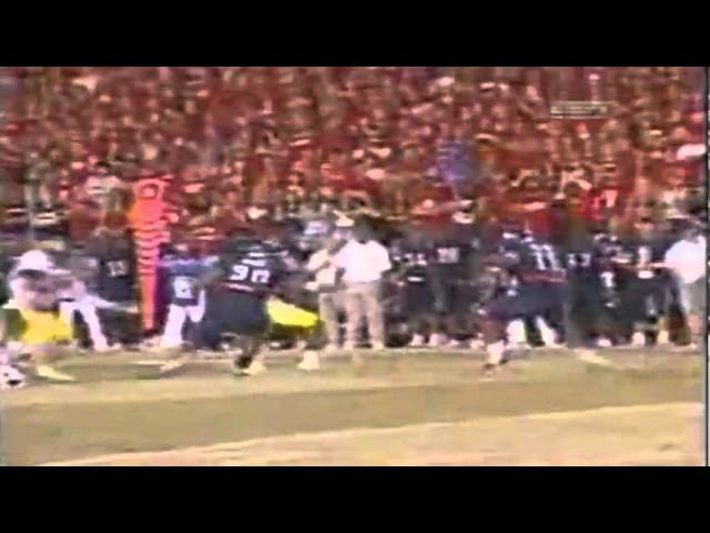 Oregon LB Brent Haberly fumble recovery and return for TD vs. AZ 10-22-05