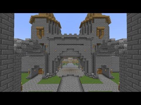 Как сделать ворота для замка в майнкрафт 18