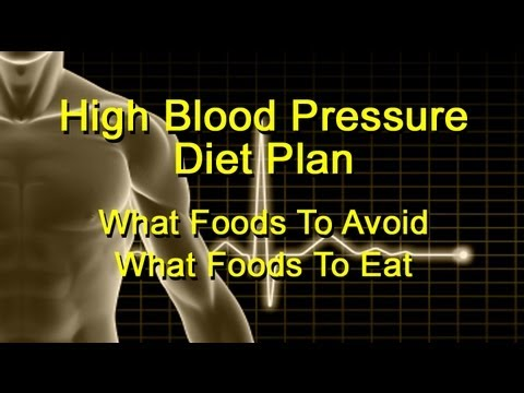 High Blood Pressure Foods To Avoid And Foods To Eat - A Hypertension Diet Plan