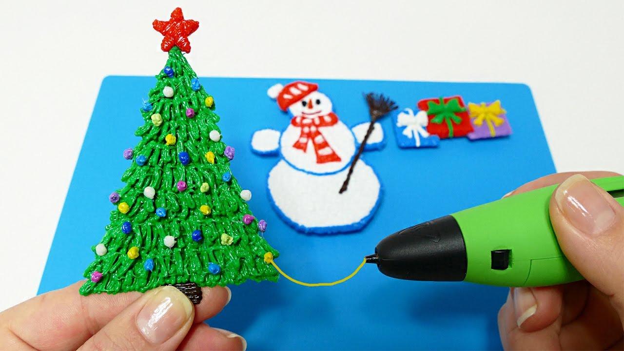 Как нарисовать 3д ручкой подарок 27