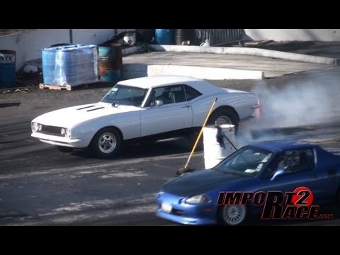 Domestic Muscle vs Imports Drag Race