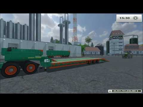 farming simulator 2013 mod review Pack Low Loader Aguas Tenias by Big boss modding