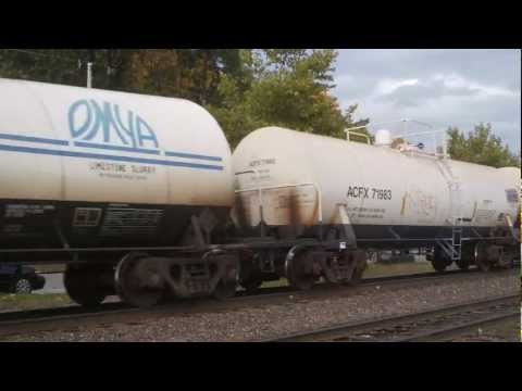 Shirley, MA: Norfolk Southern (9320, 9855)/Pan-Am (607, 608) Freight Train Near Shirley Station