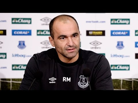 Roberto Martinez pre-Crystal Palace press conference