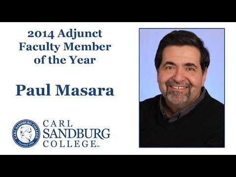 Paul Marasa - 2014 Carl Sandburg College Adjunct Faculty Member of the Year