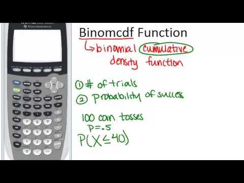 Binomcdf Function Principles
