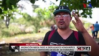 Nicaragua bloquea paso de migrantes hondureños