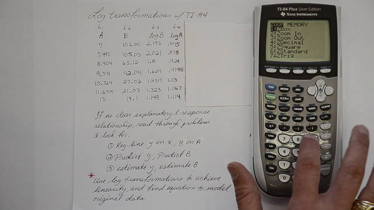 how to find a linear regression model on ti-84