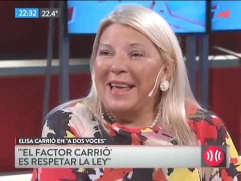 Lilita Carrió chicaneó a dos periodistas de TN: Ustedes tiemblan con Magnetto