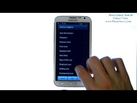 Samsung Galaxy Note II - How Do I Change Ringtone