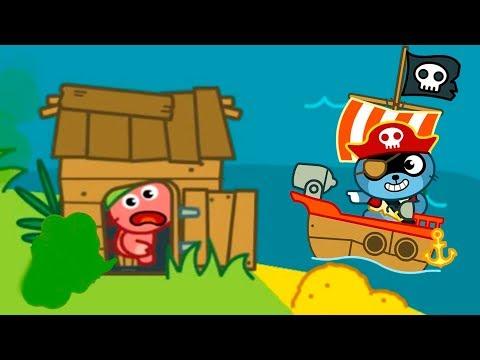 МАЛЫШ Панго ПИРАТ Спасает ДРУЗЕЙ ищет СОКРОВИЩА Игровой мультик для детей ИГРА для малышей