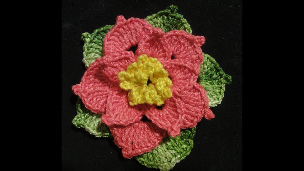 Вязаные цветы 75