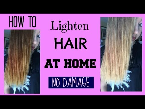 How to: LIGHTEN HAIR AT HOME //NO DAMAGE// - Maddie Ryles