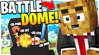 THE MOST EPIC BATTLEDOME EVER! - MASSIVE BATTLEDOME UPDATE *CUSTOM DUNGEONS MOD* -MINECRAFT