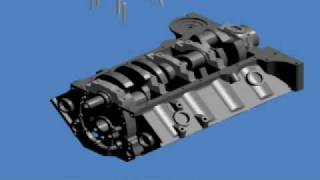 Small Block Chevy Short Block Assembly Animation