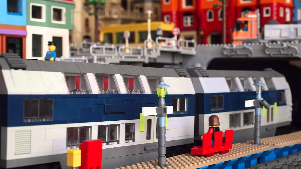Lego Train System And City Port Youtube