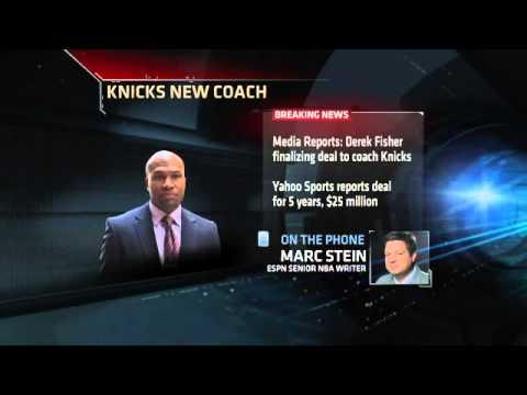 Knicks Hire Derek Fisher as Coach