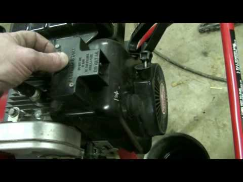 Tecumseh Snow King Carburetor Repair Video on Troy-Bilt Snow Blower part #4