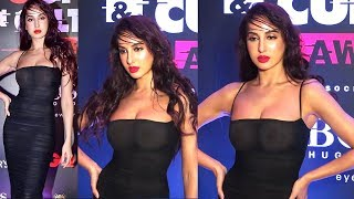 Nora Fatehi's Unbelievable SH0KING Transparent H0T Dress AT GQ Style & Cultural Awards