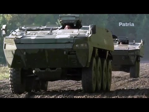 Teknari Magazine - Patria Armoured Modular Vehicle (AMV) Tested By Finnish Rally Race Driver [480p]